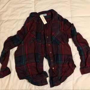 Plaid Button Down Blouse - NEVER BEEN WORN